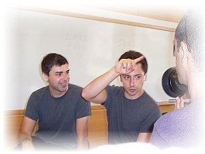 Larry Page and Sergey Brin, founders of Google Inc.  photo: Ehud Kenan